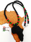 Africa Necklace Pan African RBG Men Jewelry Long Ethnic Afrocentric