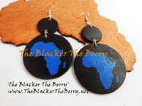 Africa Earrings Black Blue Jewelry Handmade The Blacker The Berry®