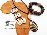 African Jewelry Set Ethnic Necklace Bracelet Earrings The Blacker The Berry