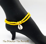 Anklet Women Beaded Handmade Summer Yellow Women Jewelry