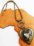Heart Necklace Brass Chunky Jewelry Women