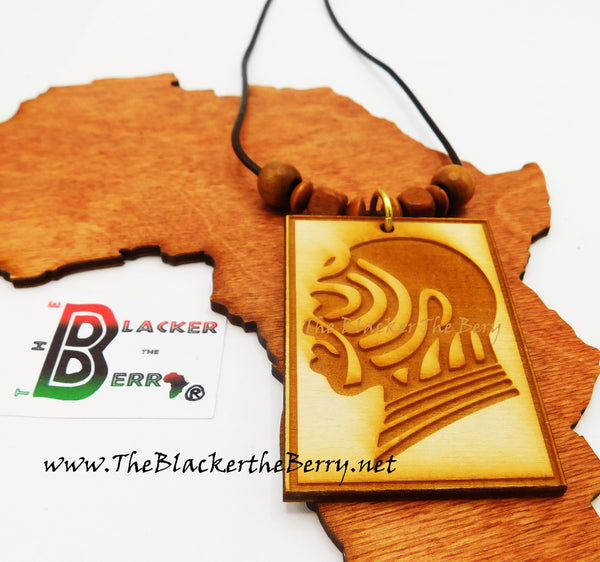 Wooden Necklace African Warrior Men Necklaces Afrocentric