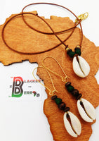 Cowrie Shell Necklace Women Ethnic Leather Jewelry Set