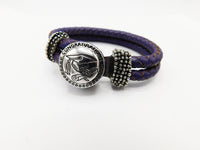 Teen Girl Bracelet Graduation Snap Jewelry Gift Ideas Purple
