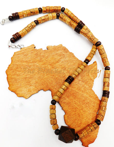 Wooden Beaded Necklace Set Jewelry Men Bracelet