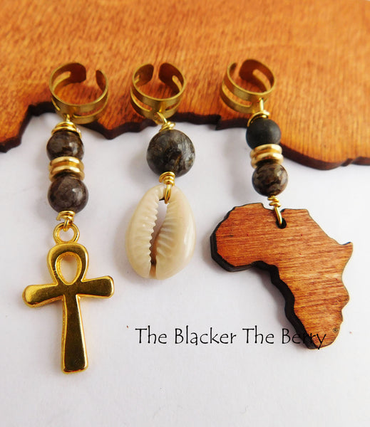 African Hair Jewelry Loc Accessories Ethnic Women