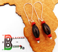 Ethnic Earrings Beaded Jewelry Wooden Red Jewelry Women