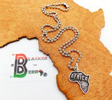 Africa Necklace Motherland Jewelry Silver Teen Adult Unisex