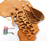 Queen Earrings Wooden Ethnic Jewelry The Blacker The Berry®