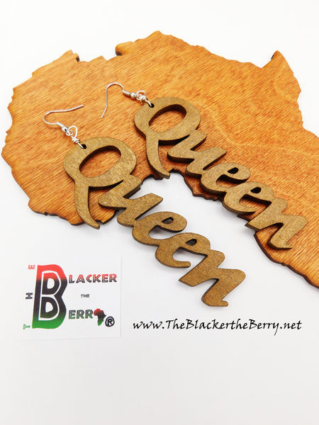 Queen Earrings Wooden Hand Painted The Blacker The Berry®