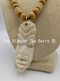 African Necklace Bone Jewelry Beaded Handmade The Blacker The Berry Ⓡ