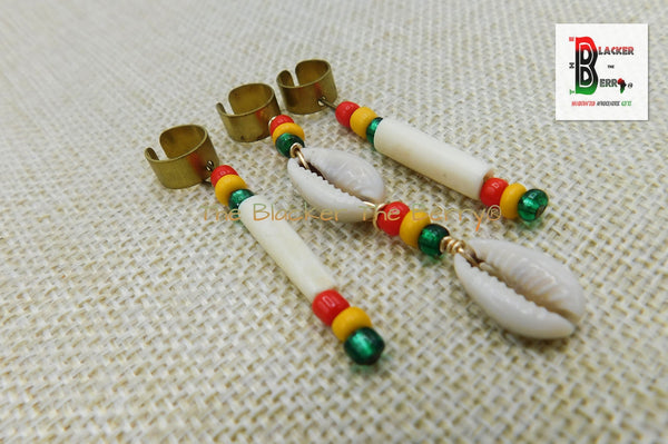 Rasta Beaded Hair Accessories Loc Jewelry Dreads Rasta Set of 3
