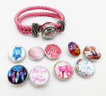 Pink Bracelet Teen Jewelry Snap Interchangeable Graduation Gift Ideas