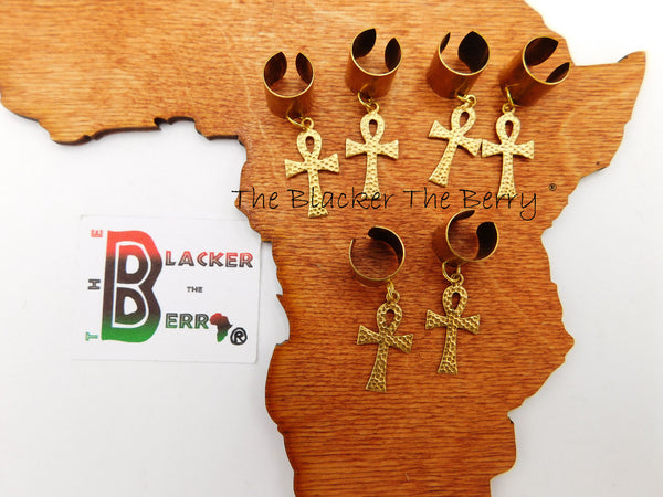 Ankh Hair Jewelry Accessories Women Men Dreads Locs