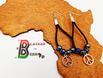 Peace Earrings Women Jewelry Dangle Leather