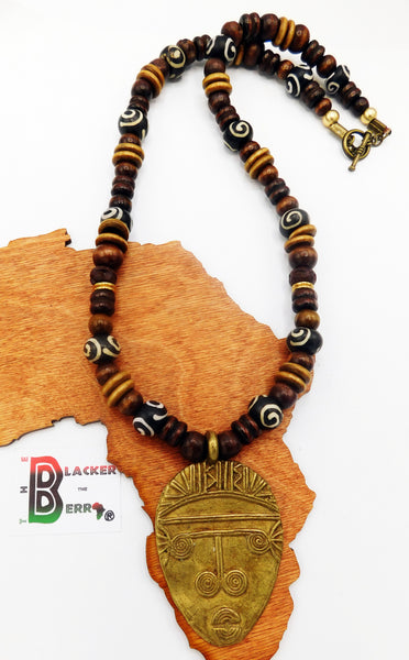 African Men Necklaces Beaded Jewelry Mask The Blacker The Berry