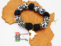 Animal Print African Bracelet Fabric Jewelry The Blacker The Berry®