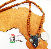 Elephant Necklace Pendant Jewelry Beaded Ethnic