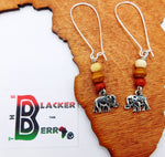 Elephant Earrings Beaded Jewelry Gift Ideas Dangle