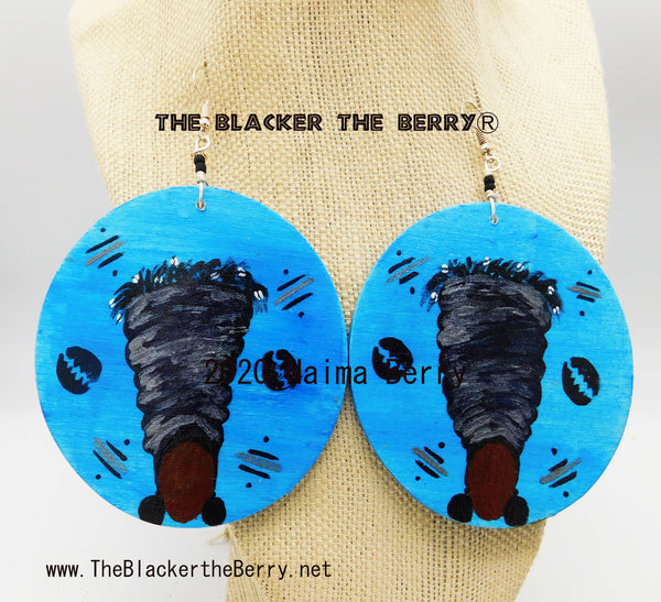 AfricanWomen Hand Painted Earrings Handmade Black Pride