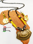 Ethnic Necklaces Yellow Summer Women Chain Beaded