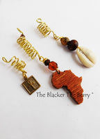 Afrocentric Hair Accessories Women Ethnic Jewelry Ankh