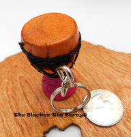 African Drum Keychain Car Accessories Gift Ideas Djembe Black Owned Business