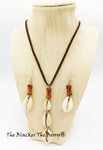 Cowrie Shell Necklace Jewelry Set Earrings Women Ethnic