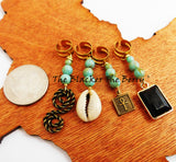 Hair Accessories Beaded Ethnic Cowrie Ankh Dangle Jewelry Women