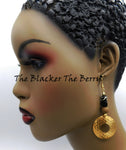 Hammered Earrings Circle Beaded Ethnic Women Jewelry