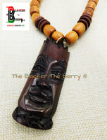 Large African Mask Men Jewelry Gift Ideas for Him Ethnic Afrocentric Black Owned