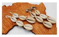 Cowrie Earrings Wire Handmade Women Long Dangle Jewelry