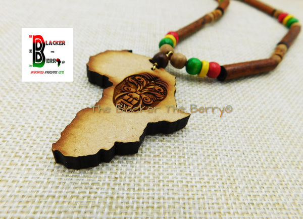 African Mask Necklaces Rasta Jewelry Handmade Gift Ideas Unisex Adult Teen Africa