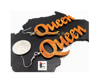 Queen Earrings Women Jewelry 3.5 Inches Dangle