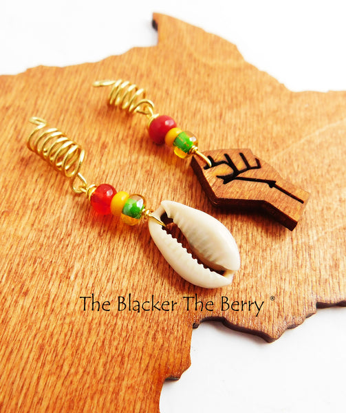 Cowrie Hair Jewelry Rasta Fist Accessories The Blacker The Berry