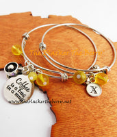 Personalized Bracelets Silver Coffee Lover Jewelry Women Yellow