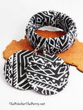 Black White Jewelry Set African Ankara Bracelet Black Women Jewelry Ethnic