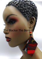 Large Ankara Earrings Handmade Women Jewelry Gift Ideas