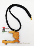 Haiti Necklace Wooden Beaded Jewelry Black