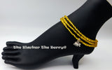 Anklet Yellow Beaded Jewelry Stretch Handmade Elephant Summer