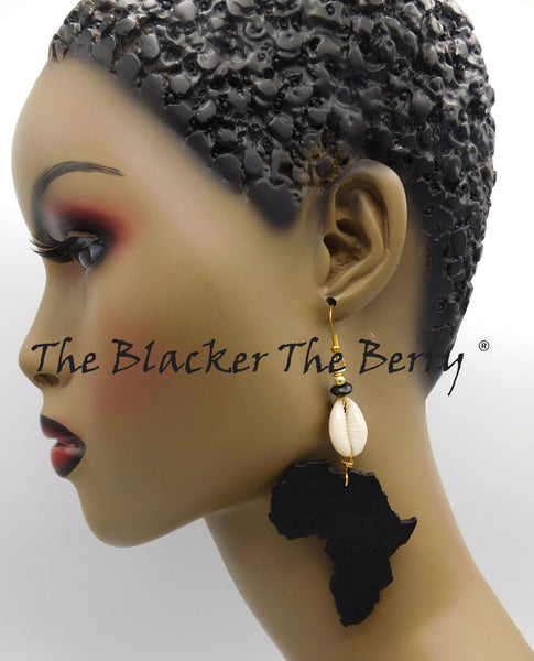 Black Africa Earrings Women Jewelry Handmade Cowrie The Blacker The Berry ®