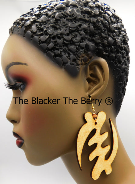 Large Gye Nyame Earrings African Jewelry Black Owned Business