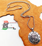 Silver Egyptian Eye Charm Necklace Ethnic Jewelry