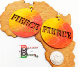 Fierce Earrings Wooden Jewelry Orange Yellow The Blacker The Berry®