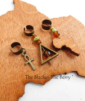 African Hair Jewelry Ethnic Accessories Handmade Ankh