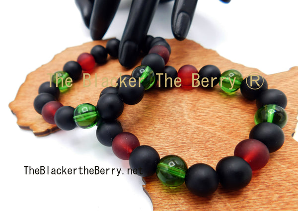 RBG Bracelet Beaded Jewelry Pan African Men Women Handmade Size 6.5