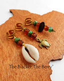 Hair Jewelry Green Brown Turtle Cowrie Shell Accessories