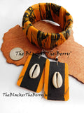 African Ankara Bracelet Yellow Black Women Jewelry Ethnic The Blacker The Berry®