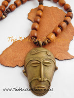Men African Necklaces Ethnic Jewelry Mask Afrocentric The Blacker The Berry®