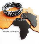 African Ankara Bracelet Black White Teen Jewelry Ethnic The Blacker The Berry®